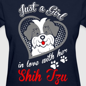 Just A Girl In Love With Her Shih Tzu Dog - Women's T-Shirt