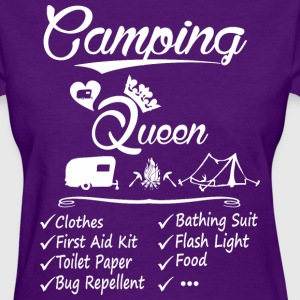 Camping Queen Checklist - Women's T-Shirt