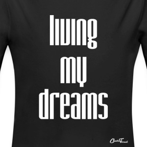 living my dreams-white Baby Bodysuits - Long Sleeve Baby Bodysuit