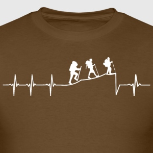 Hiking Heartbeat - Men's T-Shirt