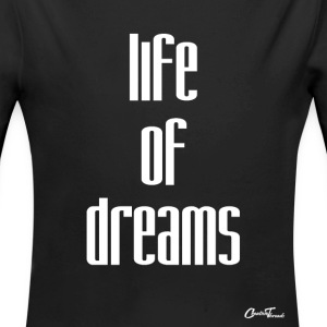 life of dreams-white Baby Bodysuits - Long Sleeve Baby Bodysuit