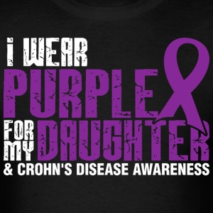 I Wear Purple For My Daughter And Crohns Disease - Men's T-Shirt