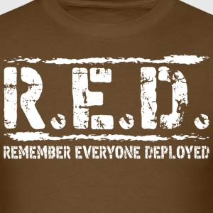 Remember Everyone Deployed Military - Men's T-Shirt
