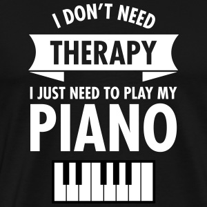 Therapy - Piano T-Shirts - Men's Premium T-Shirt