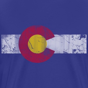 Colorado Flag Vintage Fade T-Shirts - Men's Premium T-Shirt