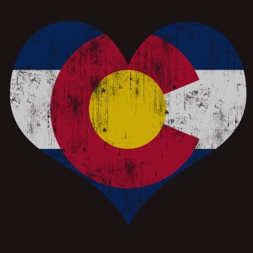 Vintage Fade Colorado Flag Heart