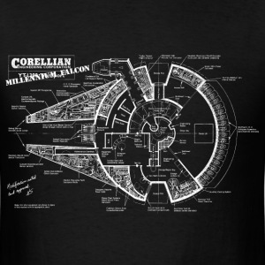 millennium falcon original blue prints T-Shirts - Men's T-Shirt