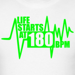 T-Shirt Life starts at 180 BPM - Men's T-Shirt