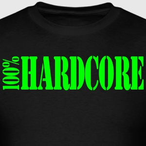 T-Shirts 100% Hardcore  - Men's T-Shirt