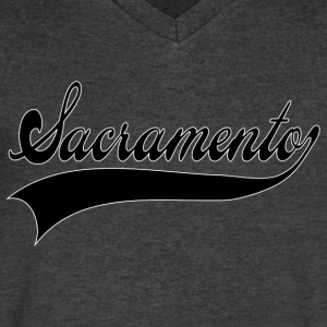 sacramento T-Shirts - Men's V-Neck T-Shirt by Canvas