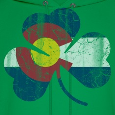 Irish Shamrock Colorado Flag  Hoodies