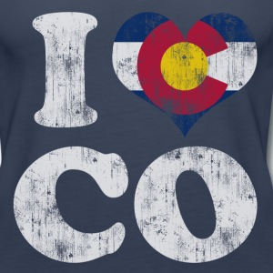 Popular I Heart Flag of Colorado Tanks - Women's Premium Tank Top