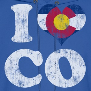 Popular I Heart Flag of Colorado Hoodies - Men's Hoodie