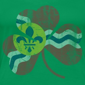 Vintage Irish Flag of St Louis Shamrock Women's T-Shirts - Women's Premium T-Shirt