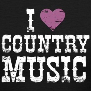 I Love Country Music - Women's V-Neck T-Shirt