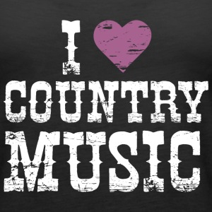 I Love Country Music - Women's Premium Tank Top