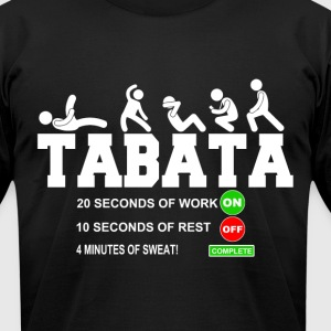 Tabata Cardio Bootcamp On/Off Workout Timer T-Shir - Men's T-Shirt by American Apparel