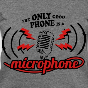 The only good phone is a microphone Long Sleeve Shirts - Women's Wideneck Sweatshirt