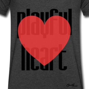 Playful heart T-Shirts - Men's V-Neck T-Shirt by Canvas
