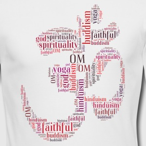 Om words symbol Long Sleeve Shirts - Men's Long Sleeve T-Shirt by Next Level