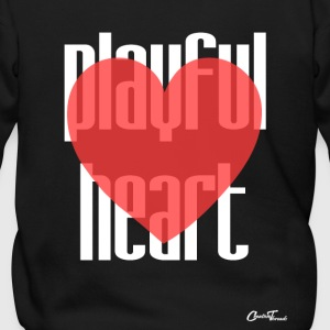 Playful heart-white Zip Hoodies & Jackets - Men's Zip Hoodie