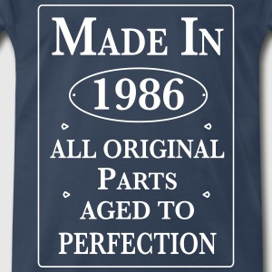 made in 1986 birthday T-Shirts - Men's Premium T-Shirt