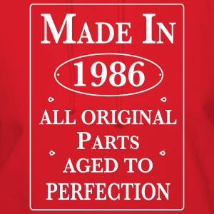 made in 1986 birthday Hoodies - Women's Hoodie