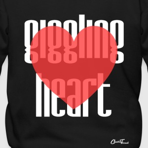 Giggling heart-white Zip Hoodies & Jackets - Men's Zip Hoodie