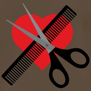 scissors & comb & heart T-Shirts - Men's Premium T-Shirt
