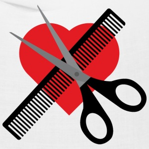 scissors & comb & heart Caps - Bandana
