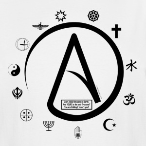 Atheist:  How can 2000 Religions all be TRUE? T-Shirts - Men's Tall T-Shirt