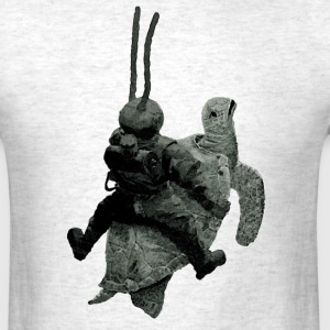 Vintage Diver with Diving Helmet Riding a Turtle - Men's T-Shirt