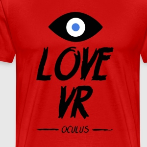 LOVE VR (Black) - Men's Premium T-Shirt