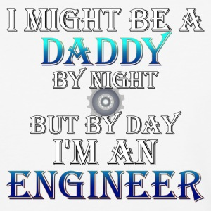Daddy Engineer Mens Baseball T-Shirt - Baseball T-Shirt