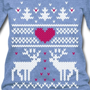 winter knitting pattern v Long Sleeve Shirts - Women's Wideneck Sweatshirt
