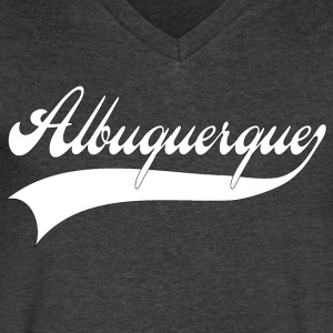 albuquerque T-Shirts - Men's V-Neck T-Shirt by Canvas