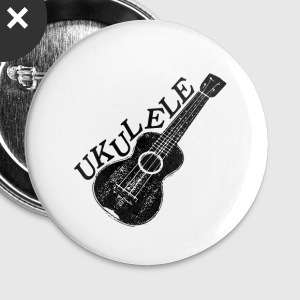 Ukulele Text And Image - Large Buttons