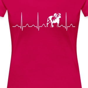 BULLDOG HEARTBEAT - Women's Premium T-Shirt