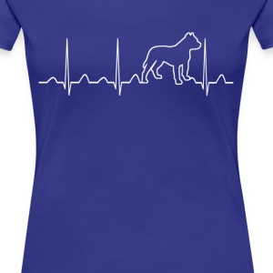 PITBULL HEARTBEAT - Women's Premium T-Shirt