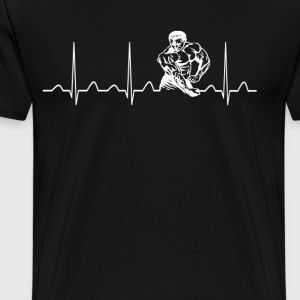 BODYBUILDING HEARTBEAT - Men's Premium T-Shirt