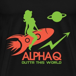 Alphaq outta this world - Men's Premium T-Shirt