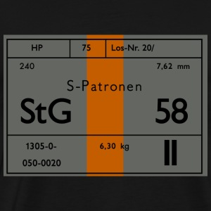 Stg-58 Austrian Ammo Label - Men's Premium T-Shirt