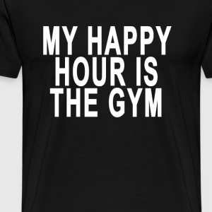 my_happy_hour_is_the_gym_ - Men's Premium T-Shirt