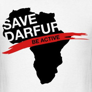 Save Darfur. Be active! T-Shirts - Men's T-Shirt