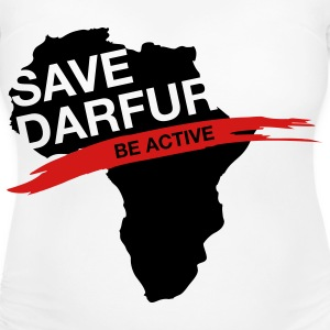 Save Darfur. Be active! Women's T-Shirts - Women's Maternity T-Shirt