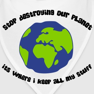 Cease to destroy our planet! Caps - Bandana