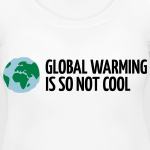 Global Warming Is not Cool! Women's T-Shirts - Women's Maternity T-Shirt