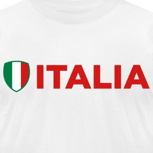 National Flag of Italy T-Shirts - Men's T-Shirt by American Apparel