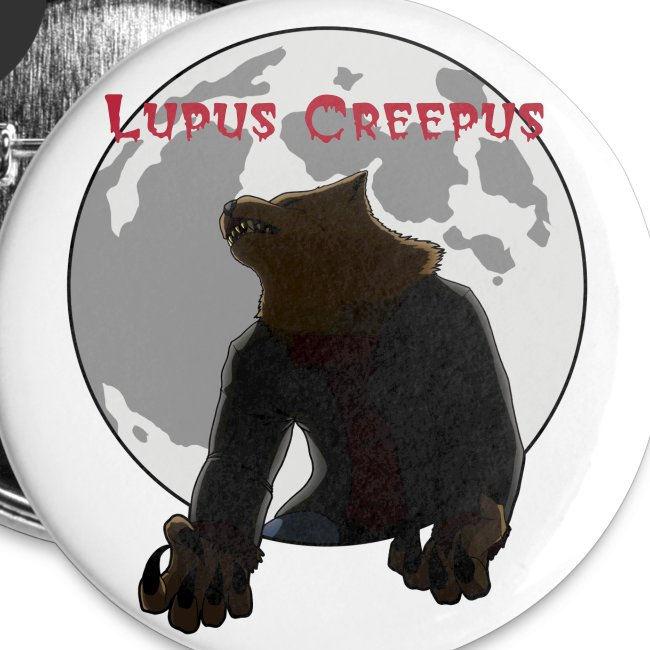 Howling Lupus Buttons - Small