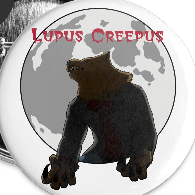 Howling Lupus Buttons - Large